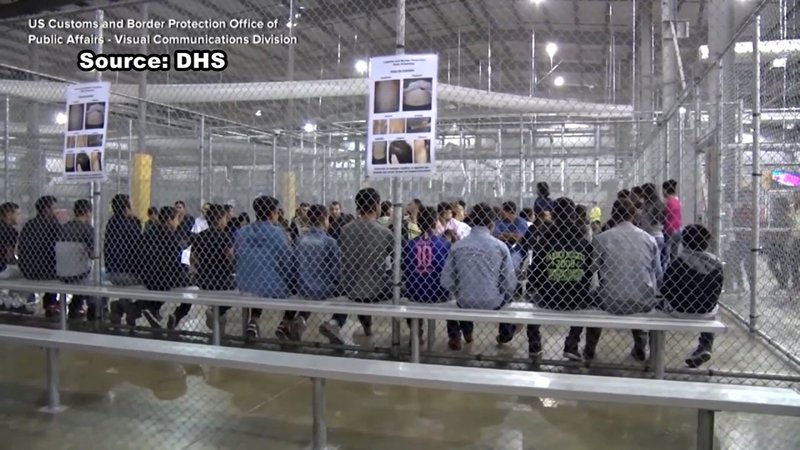 A migrant detention facility in Clint, Texas. (DHS via CNN)