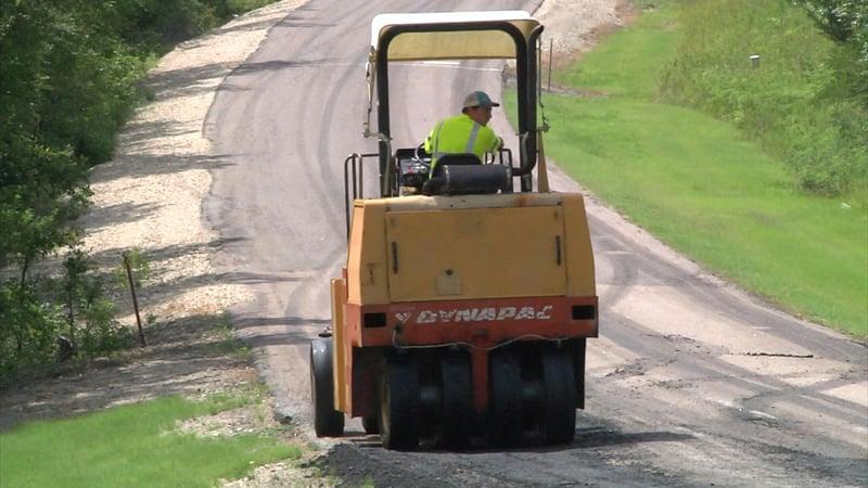 State Highway 106 is getting some fresh asphalt near Little Glasses Resort. (KTEN)
