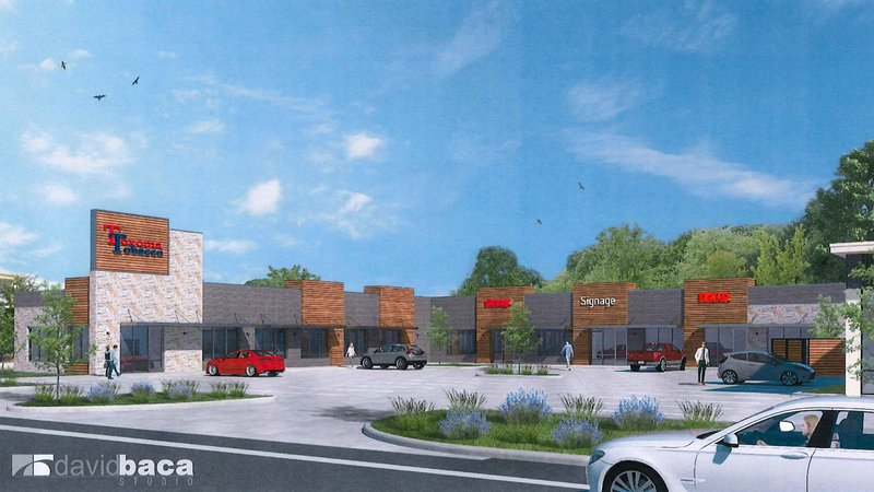 An artist's rendering of the proposed new shopping center at 2205 Texoma Parkway in Sherman.  (Sherman City Council)