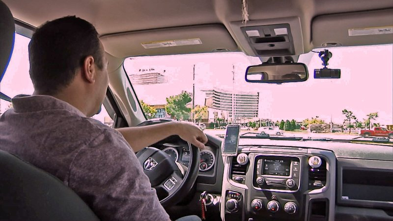 Uber driver Jake Trujillo is campaigning for more drivers to sign up in Texoma. (KTEN)