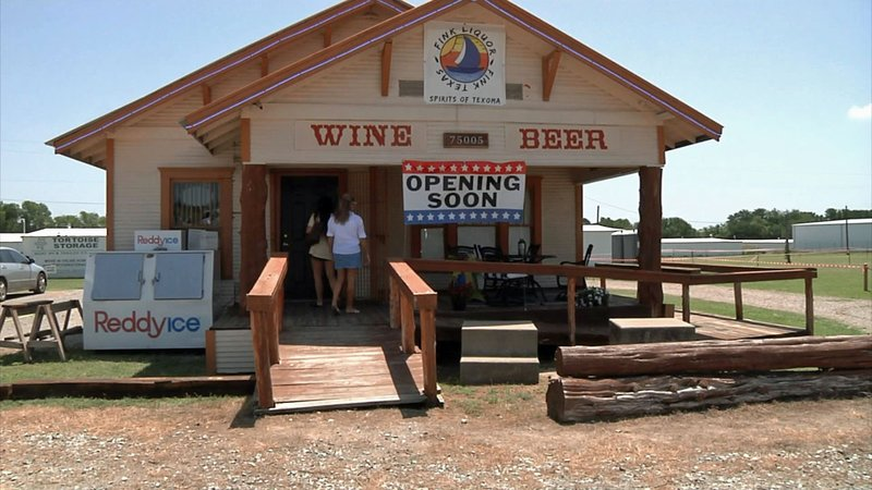 A liquor store is the latest edition to the landscape in Fink, Texas. (KTEN)