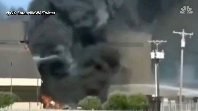 Ten people died when their aircraft crashed into a hangar at Addison Airport near Dallas on June 30, 2019. (NBC News)
