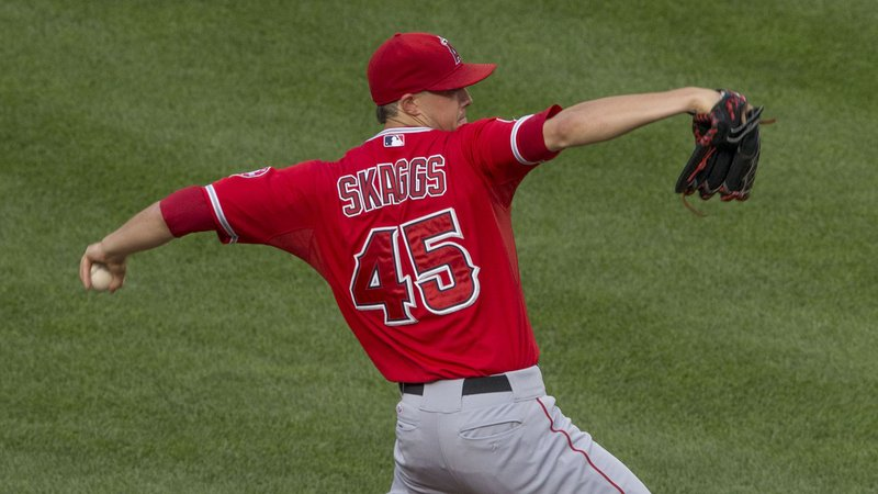 Los Angeles Angels pitcher Tyler Skaggs. (Keith Allison/CC BY-SA 2.0)