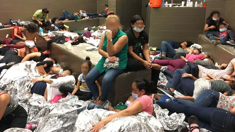 Overcrowding observed by federal investigators at the Border Patrol's station in Weslaco, Texas, on June 11, 2019. (Courtesy OIG)