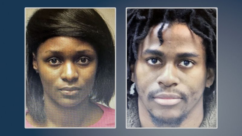 Robin Alexander (left) and Hakim Moore are wanted in connection with a child abuse case in Altus, Oklahoma. (St. Louis Metropolitan Police)