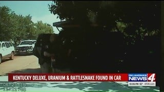 Guthrie, Oklahoma, police made an unusual discovery. (KFOR via CNN)