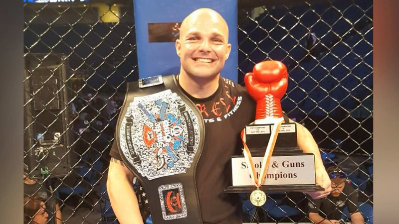 Before his illness, Wesley Crank was also an amateur  MMA fighter. (Courtesy)