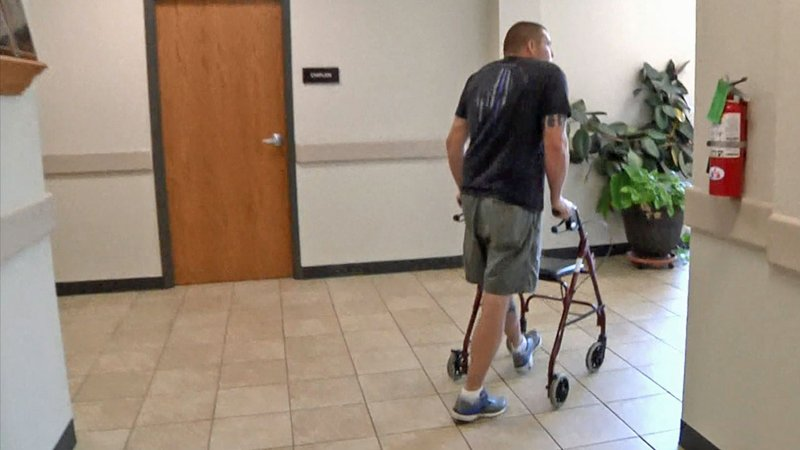 Durant police Officer Wesley Crank is ready to return to work for light duty. (KTEN)
