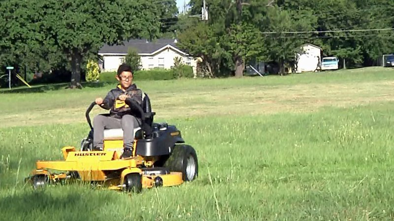 Youngsters at the Boys & Girls Club of Denison got a lesson in lawn care. (KTEN)