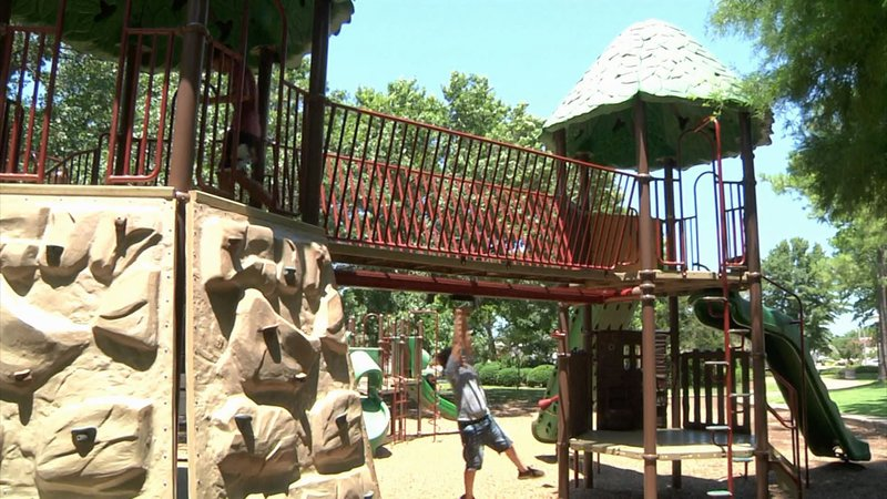 Parents and kids should be aware of summer heat dangers at the playground. (KTEN)