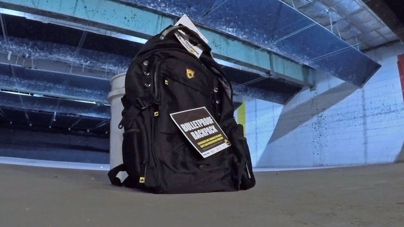 Bulletproof backpacks are a reaction to deadly shootings on school campuses. (KTEN)