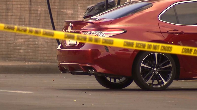Garland, Texas, police said a 9-month-old girl was found dead in this red Toyota on August 1, 2019. (KTVT via CNN)