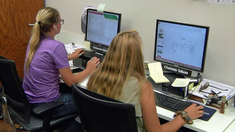 Scholars at work at the Noble Research Institute in Ardmore. (KTEN)