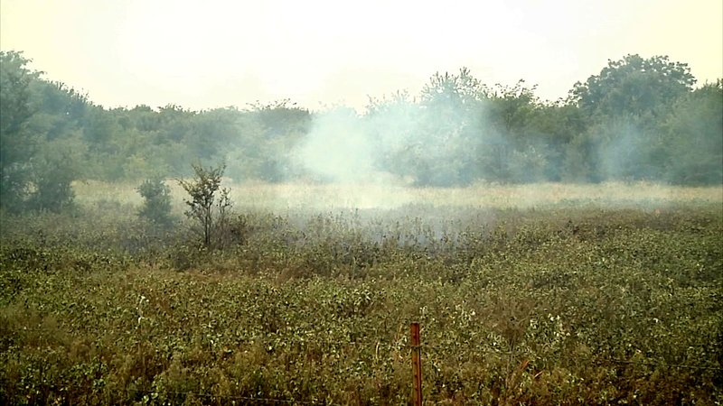 The controlled burn at Hagerman National Wildlife Refuge reduces the volume of flammable underbrush. (KTEN)