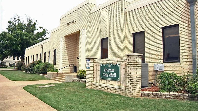 Flooding forced officials to close Durant City Hall on August 8, 2019. (KTEN)