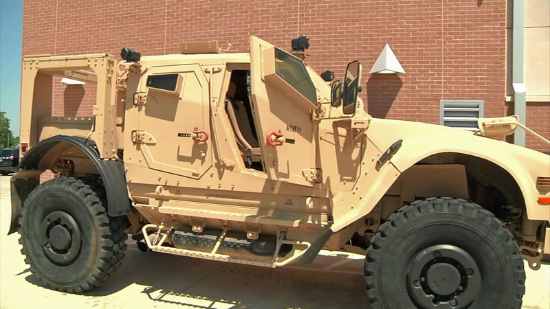 The Ada Police Department's new military ATV. (KTEN)