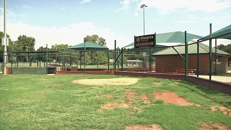 Three donated batting cages are earmarked for use at Plyler Park in Durant. (KTEN)