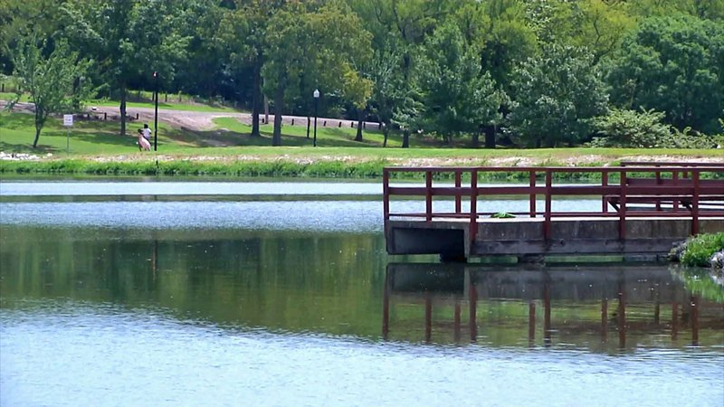 Fishing is on hold at Ada's Wintersmith Lake. (KTEN)