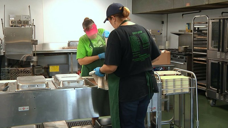 Mill Creek cafeteria workers are enjoying a cleaner and more functional kitchen. (KTEN)