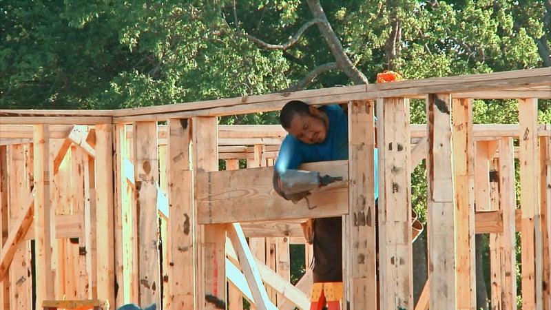 New housing construction is underway in Tom Bean. (KTEN)
