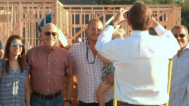 Texas Platinum Homes broke ground for a new residential subdivision in Tom Bean. (KTEN)