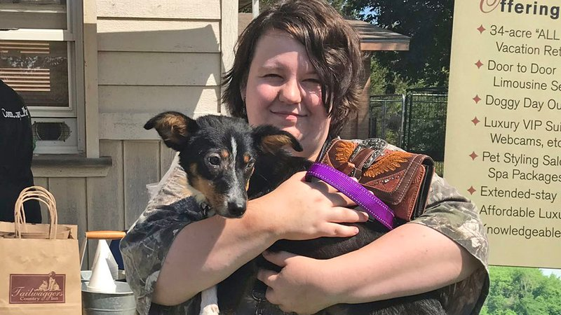 Another dog adopted at the Denison Animal Welfare Group at the 2019 Clear the Shelters event. (KTEN)