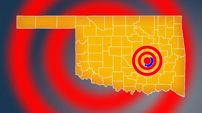 A magnitude 3.0 earthquake struck near Holdenville, Oklahoma, on August 29, 2019. (KTEN)