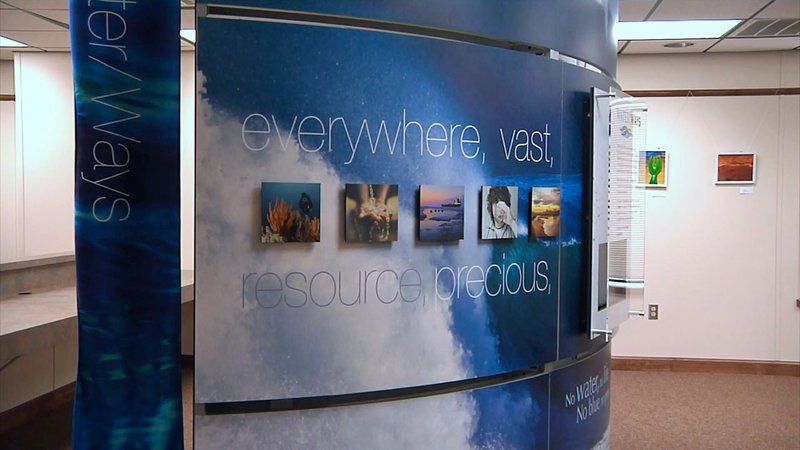 The Smithsonian's traveling Water/Ways exhibition at the Ada Public Library. (KTEN)