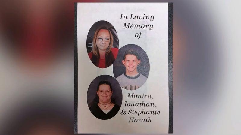 Monica Moseley, Jonathan Horath and Stephanie Horath were slain at their Marshall County home on August 22, 2019. (Courtesy)