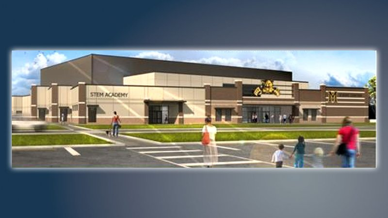 An architectural rendering of the proposed Madill Event Center. (Madill Public Schools)