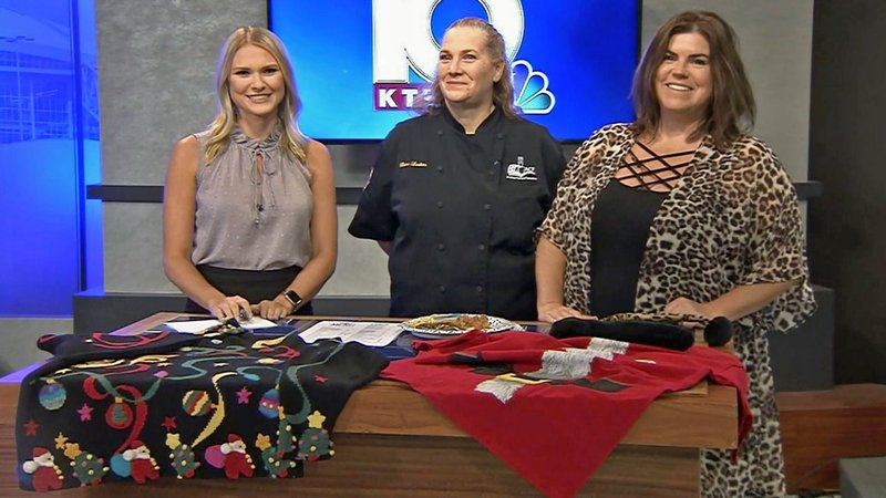 KTEN's Carley Banks (left) with Diana Larkins of Prop-Strike Cafe and Goodwill's Sarah Pierce. (KTEN)