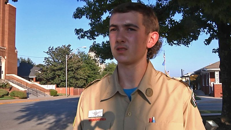 """""""I believe it would help the people of the community,"""" Eagle Scout Dillon Burnam said. (KTEN)"""