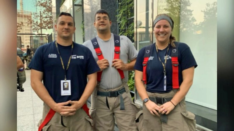 Three Denison firefighters participated in the 2019 Dallas 9/11 Memorial Stair Climb. (Courtesy)