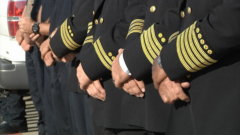 First responders in Sherman, Texas, mark the 18th anniversary of the September 11 terrorist attacks. (KTEN)