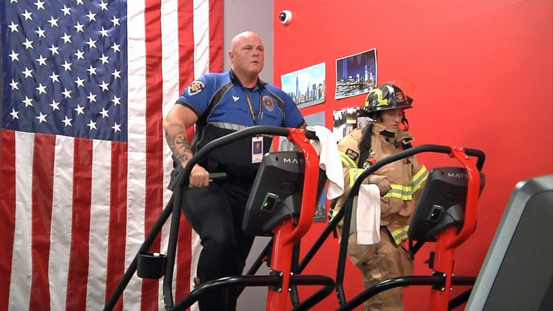 Durant firefighters participate in a stair climb in tribute to 9/11 first responders at ground zero in New York. (KTEN)