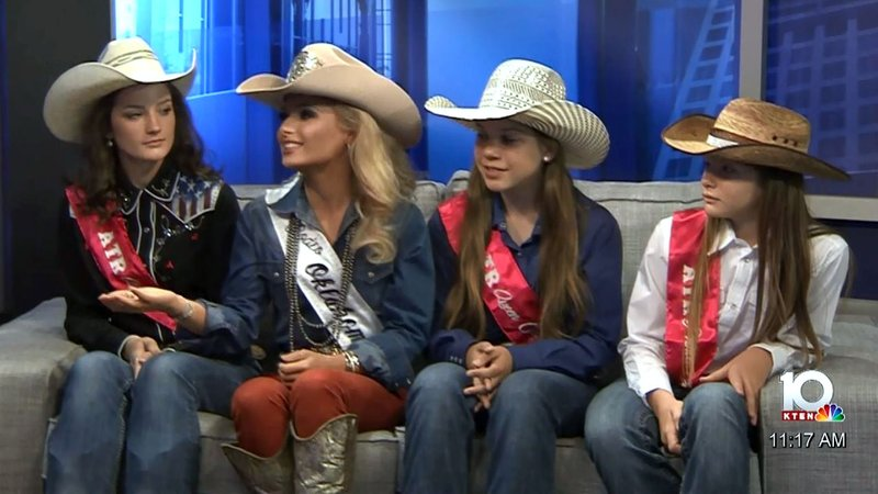 Atoka Trail Riders Rodeo queen candidates discuss the event on September 13-14, 2019. (KTEN)