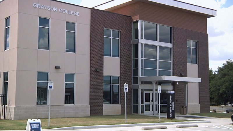 The new Student Success Center at Grayson College in Denison. (KTEN)