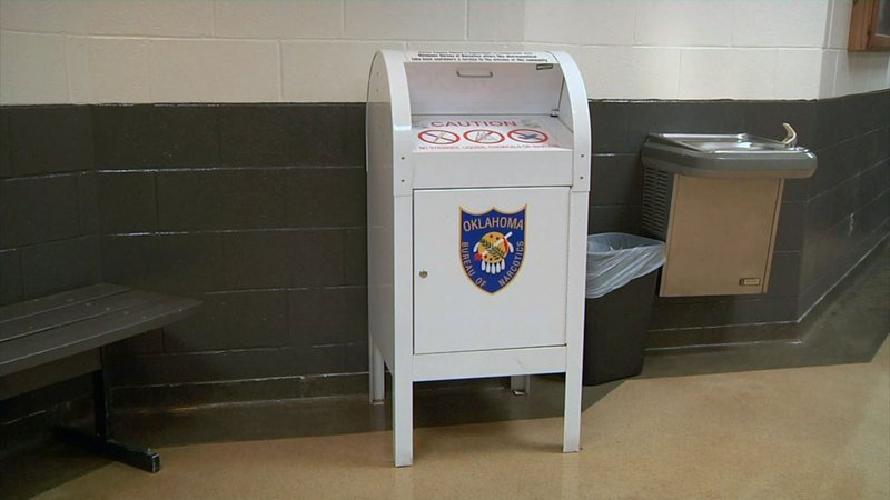The Carter County Sheriff's Office hosts this unwanted drugs dropoff box. (KTEN)