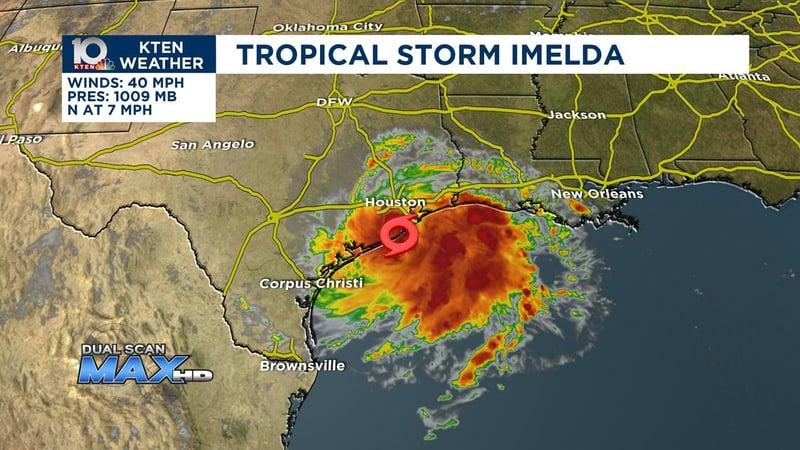Tropical Storm Imelda threatens the Gulf Coast. (KTEN)