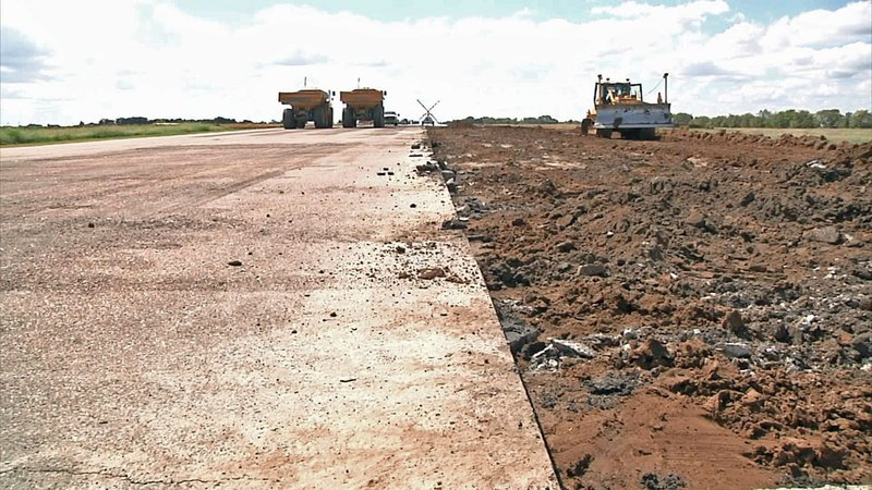 Work is underway to expand the runway at Durant Regional Airport. (KTEN)