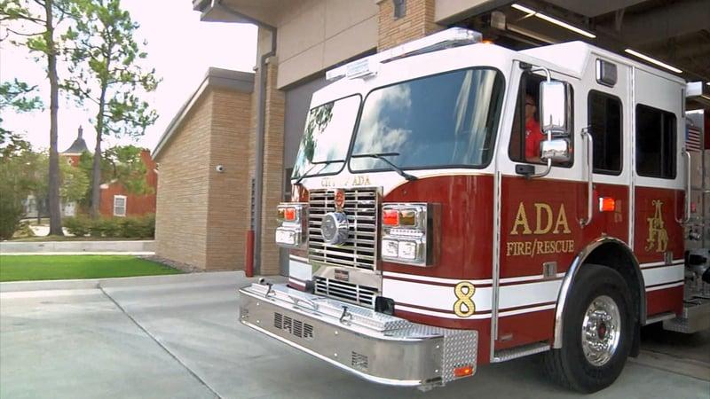 Ada's new fire truck can carry 1,000 gallons of water. (KTEN)