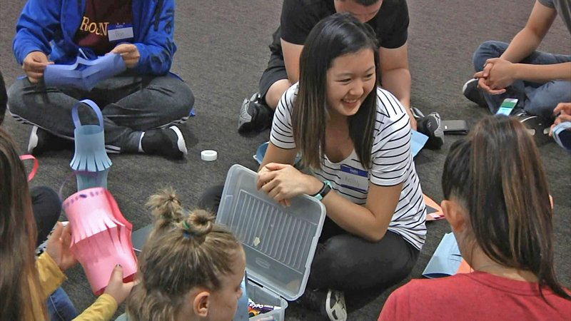 Austin College student host youngsters at a 'Roo Bound event on September 21, 2019. (KTEN)
