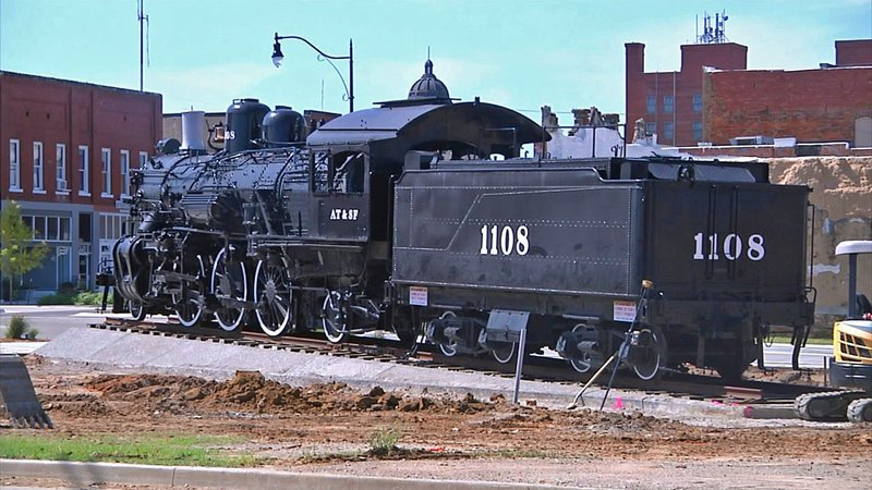 The Mercy Train is the focal point of Ardmore's Depot Park development. (KTEN)
