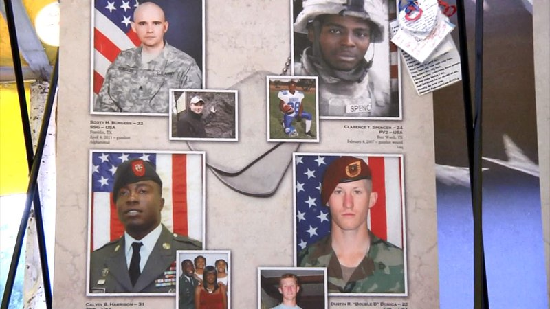 Four of the Texas service members killed in combat who are honored at the Remembering Our Fallen exhibit. (KTEN)