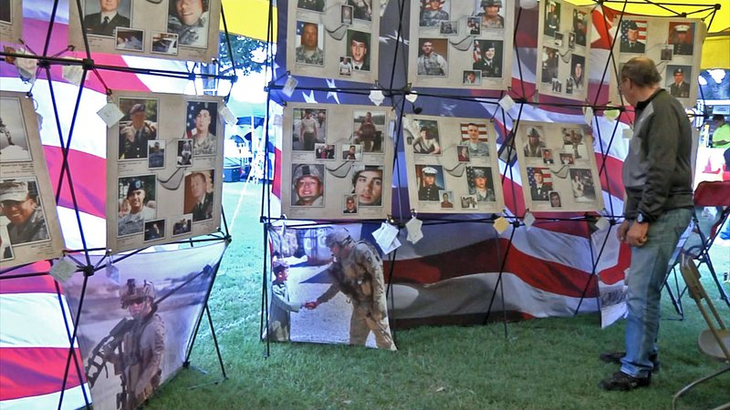 More than 600 Texas soldiers killed in combat are honored at the Remembering Our Fallen traveling exhibit. (KTEN)