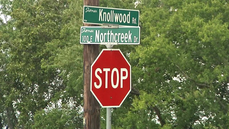 There's a proposal to eliminate this Sherman intersection. (KTEN)