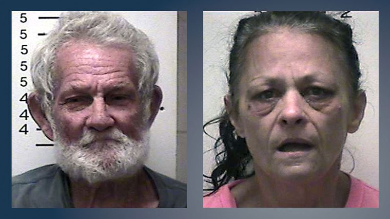 Henry Thomas and Penny Proctor were jailed after a shooting in Bokchito, Oklahoma, on September 29, 2019. (Bryan County Sheriff)
