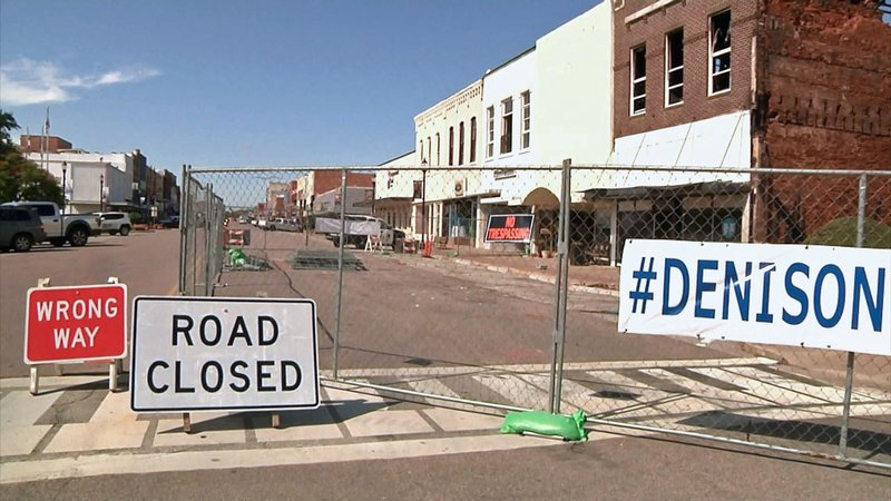 Two buildings in the 300 block of West Main Street were condemned after the October 9, 2019 fire in downtown Denison. (KTEN)