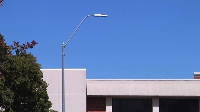 New outdoor lighting at Oklahoma School for the Deaf will improve communication. (KTEN)