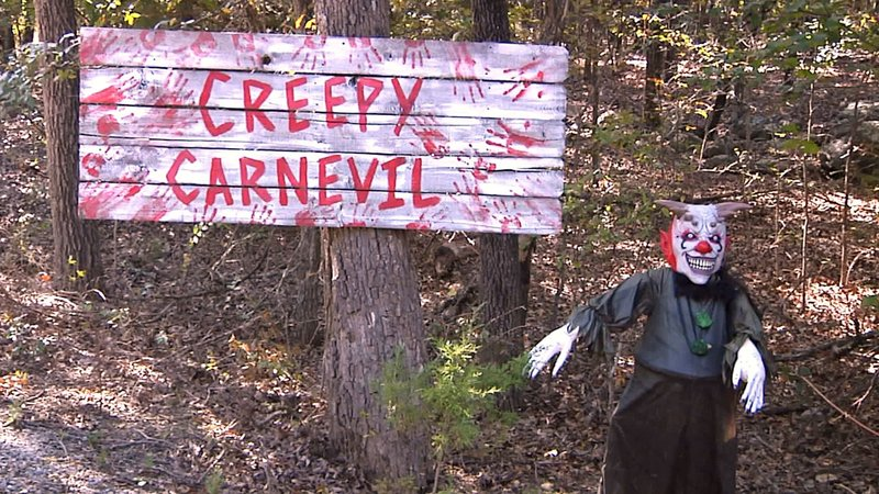 One of the attractions you'll find in Ardmore's Haunted Forest. (KTEN)